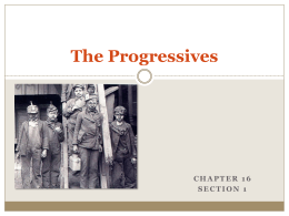 The Progressives powerpoint