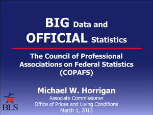 Big Data - Council of Professional Associations on Federal Statistics
