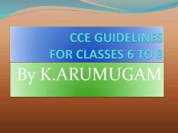 ppt for classes vi to viii cce
