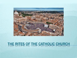 The Rites of the Catholic Church