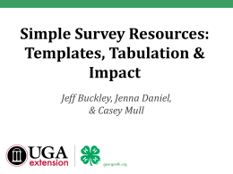 Simple Surveys PowerPoint Presentation - Georgia 4-H