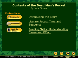 Contents of the Dead Man`s Pocket - Olsen