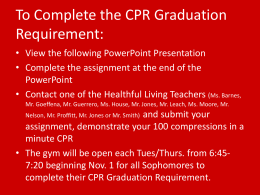 Sophomore Graduation CPR Powerpoint