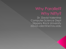 Why Parallel