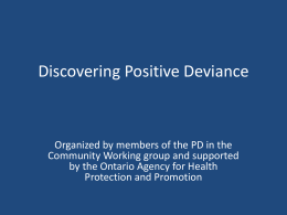 discovering-pd-slides-deck - Canadian Positive Deviance