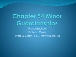 Chapter 54 Minor Guardianships