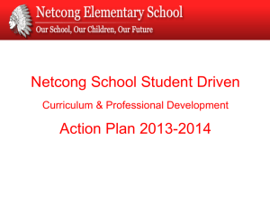 Student Growth Objectives - Netcong Elementary School
