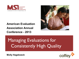 Learn more about managing evaluations from the