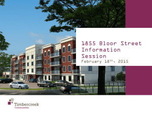 1855 Bloor Information Session Presentation 16 02 15