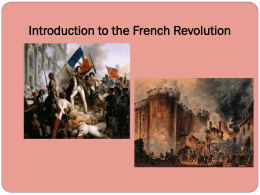 Introduction to the French Revolution Notes