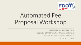 Automated Fee Proposal Presentation