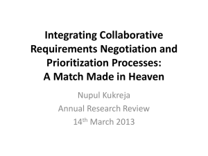 Integrating Collaborative Requirements Negotiation and