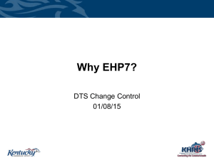 Slides highlighting the justification for ERP 6.0 EhP7 presented to