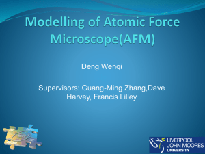 Modelling of Atomic Force Microscope(AFM)