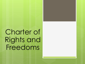 Charter of Rights and Freedoms Powerpoint
