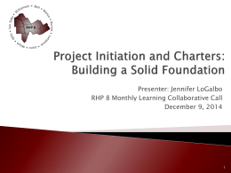 Project Initiation and Charter PPT