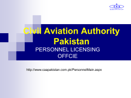 Civil Aviation Authority Pakistan