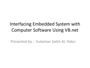 Interfacing Embedded System with Computer Software Using VB.net