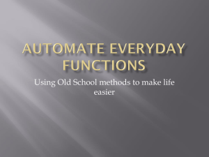 140517 - Automate Everyday Functions