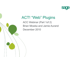 ACT! Plugins - Act! Community