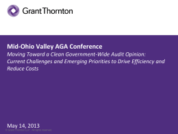 Mid-Ohio Valley AGA Conference Government-wide