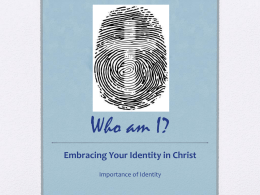 who am i? christian identity