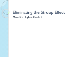 Eliminating the Stroop Effect