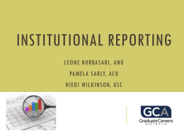 Institutional reporting and Q&A