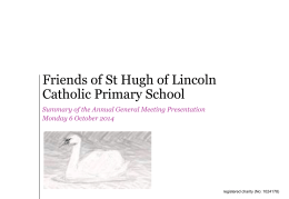 PowerPoint template - Saint Hugh of Lincoln Primary School