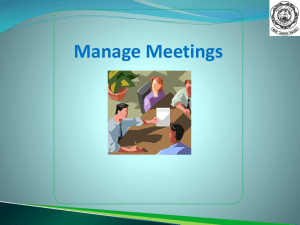Manage Meetings - Pony Club Association of NSW