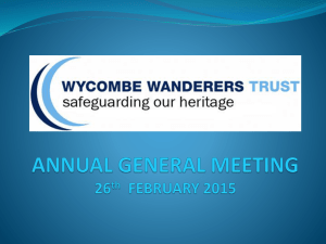 AGM 260215 - Wycombe Wanderers Trust