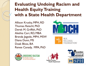 Evaluating Undoing Racism and Health Equity - PRIME
