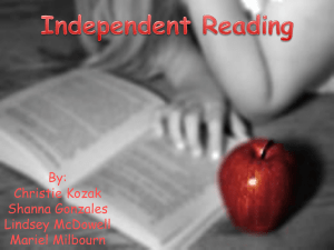 Independent Reading PPT FINAL