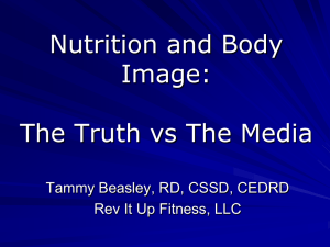 Nutrition and Body Image Presentation 1.20.12