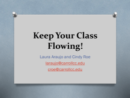 Keep Your Class Flowing! - Carroll Community College