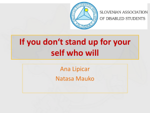 If you don`t stand up for yourself who will