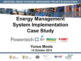 Energy Management System Implementation Case Study