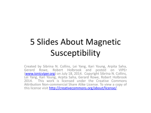 Five Slides About Magnetic Susceptibility