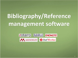 Bibliography - NUS Libraries