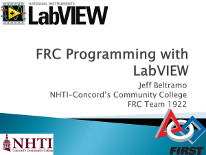 FRC Programming with Labview