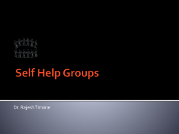 Social Self Help Groups