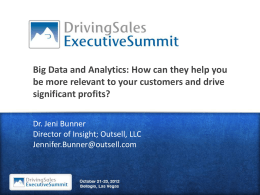 Big Data - DrivingSales Executive Summit