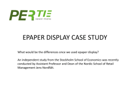PERTIE-EPAPER DISPLAY CASE STUDY