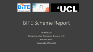 Shuai`s presentation at the BITE Symposium