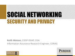 Social Networking Security and Privacy PowerPoint