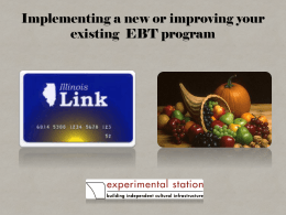 Creating an EBT program for your Farmers Market