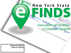 NYS Patient Tracking Application eFINDS