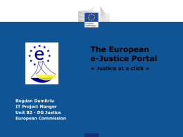 The European e-Justice Portal - European Commerce Registers` Forum