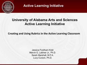 Creating and Using Rubrics in the Active Learning Classroom