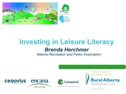 Investing in Leisure Literacy